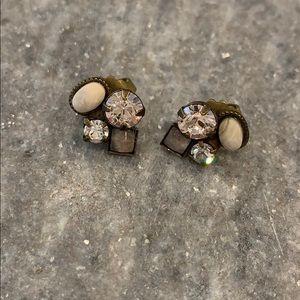 Beautiful jewel stud earrings